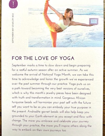 """""""For the Love of Yoga"""" Theme"""
