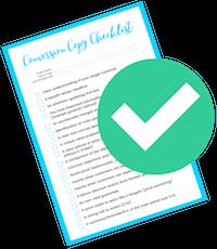 conversion copy checklist